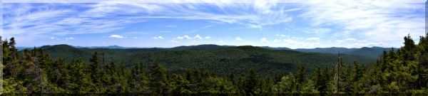panorama of vermont skydiving near the Green Mountains