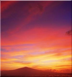 Hawaii skydiving sunset